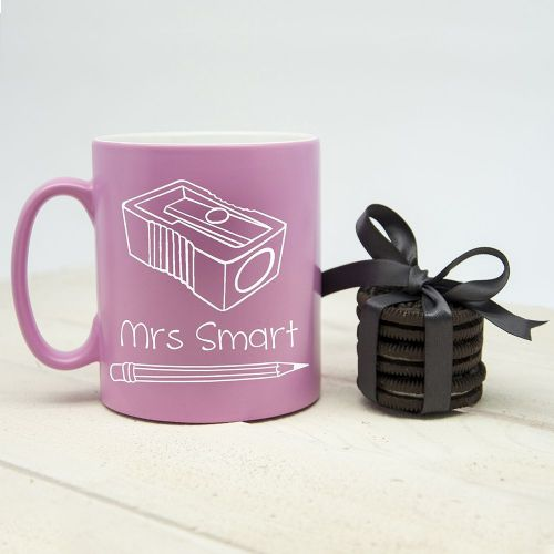 Personalised Keeping Young Minds Sharp! Matte Coloured Mug